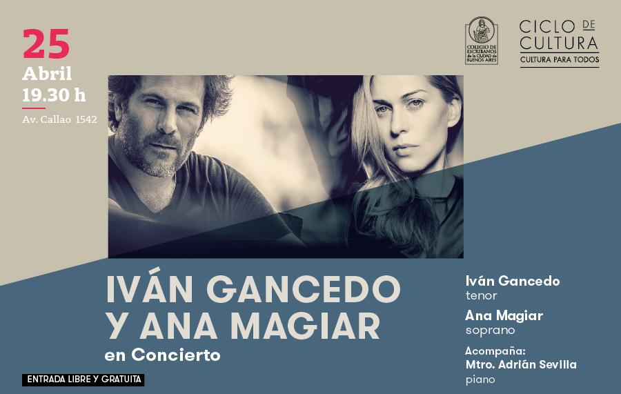 Ciclo de Cultura – Iván Gancedo y Ana Magiar en Concierto