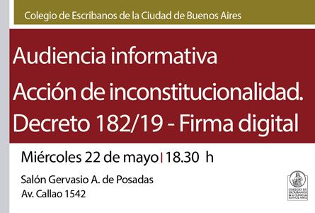 Acción judicial contra el Poder Ejecutivo Nacional – Inconstitucionalidad del Decreto 182/19