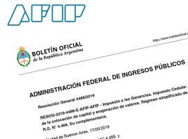 AFIP: Resolución 4488/19