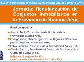 Jornada: Regularización de Conjuntos Inmobiliarios en la Provincia de Buenos Aires