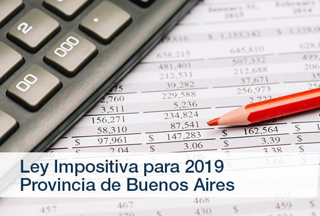 Ley 15.079 – Ley Impositiva para 2019 de la Provincia de Buenos Aires