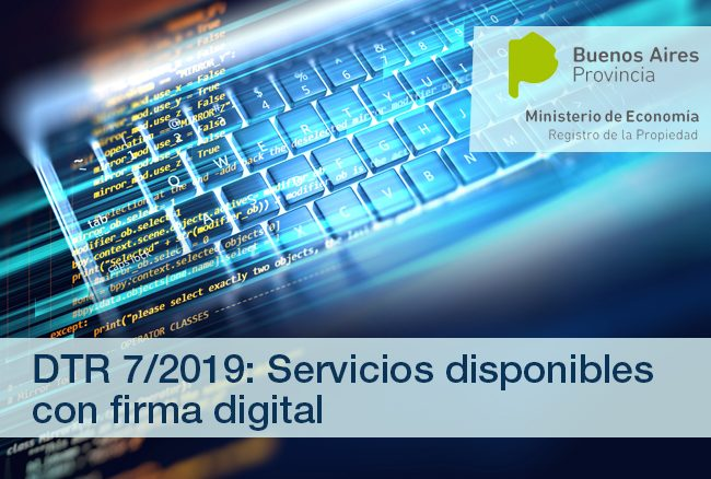 RPI de la provincia de Buenos Aires – DTR 7/19