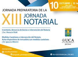 Jornada Preparatoria de la XIII Jornada Notarial  - 10 de octubre | 16 h