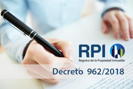 Decreto 962/18