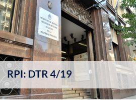 RPI de la Capital Federal: DTR 4/19