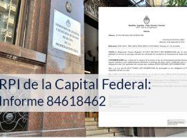RPI de la Capital Federal: Informe 84618462