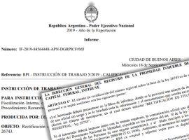 RPI de la Capital Federal: Instrucción de trabajo 5/19