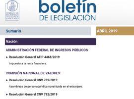 Compendio normativo mensual de relevancia notarial – Abril 2019