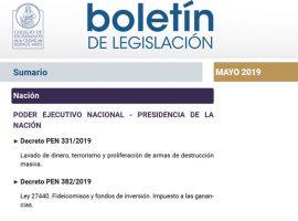 Compendio normativo mensual de relevancia notarial – Mayo 2019