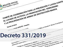 Poder Ejecutivo Nacional: Decreto 331/19